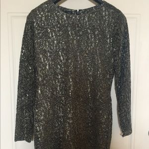 Anne Klein gold party dress